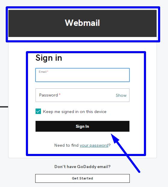 webmail godaddy login